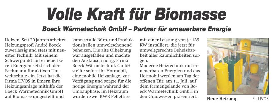Volle Kraft für Biomasse